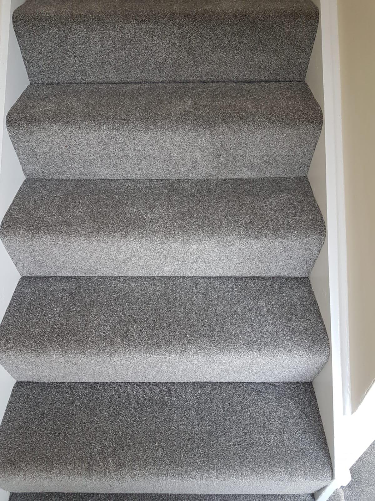 Windsor Supreme Grey Carpet Installed In Broxbourne Herts Carpets
